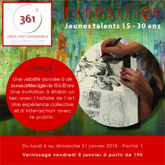 Flyer expo Jeunes Talents partie 1 recto